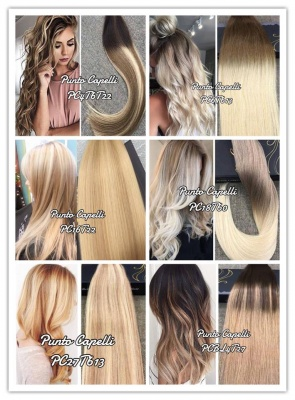 Extension Biadesive Adesive Capelli Remy 100% Umani Balayage Shatush Ombre 20 Strisce 50gr.